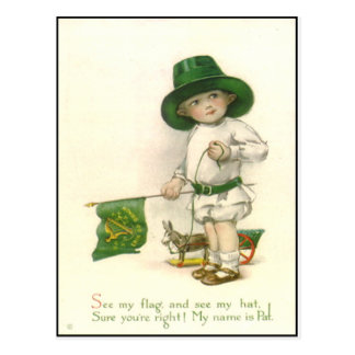 Het vintage Ierse St. Patrick Briefkaart van de