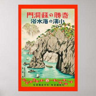 Het vintage Japanse Poster van de Reis