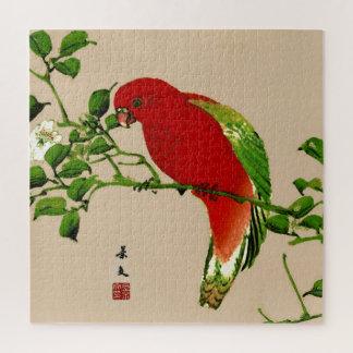 Het vintage Japanse Schilderen van een Papegaai, Legpuzzel