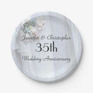 Het vintage Jubileum van het Huwelijk van de Papieren Bordje