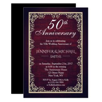 Het vintage Jubileum van het Huwelijk van Kaart
