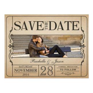 Het vintage Kaartje bewaart de Datum Briefkaart