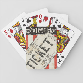 Het vintage Kaartje van de Film Pokerkaarten