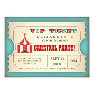 Het vintage Kaartje van de Partij van de Verjaarda Gepersonaliseerde Uitnodigingen