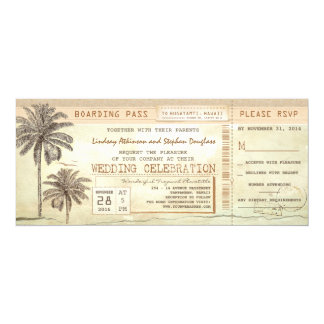 Het vintage Kaartje van het Huwelijk van de 10,2x23,5 Uitnodiging Kaart