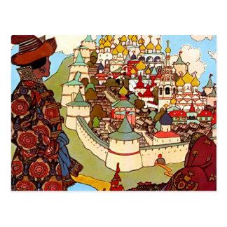 Het vintage Kasteel van het Sprookje Briefkaart