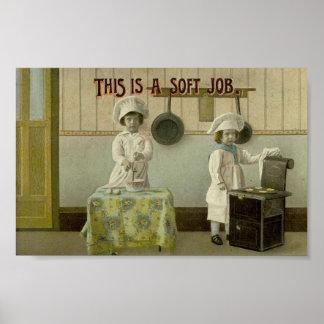 Het vintage Kinder Poster van de Druk van de Kunst