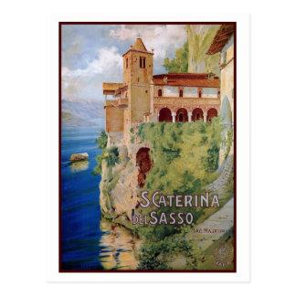 Het vintage klooster Italiaanse reis van Maggiore Briefkaart