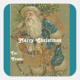 Het vintage Label van de Gift van de Kerstman
