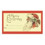 Het vintage Label van de Gift van Kerstmis Visitekaart Sjablonen