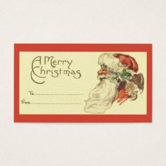 Het vintage Label van de Gift van Kerstmis Visitekaartjes