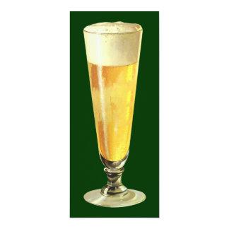 Het vintage Lange Ijzige Bier van het Ontwerp, de 10,2x23,5 Uitnodiging Kaart