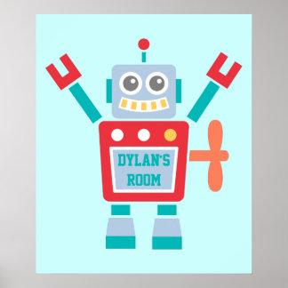 Het vintage Leuke Kleurrijke Speelgoed van de Poster