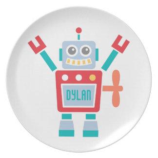 Het vintage Leuke Speelgoed van de Robot voor Kind Melamine+bord