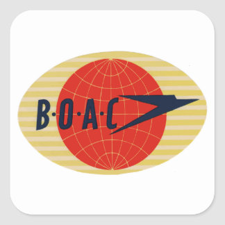 Het vintage Logo van de Luchtvaartlijn BOAC Vierkant Sticker