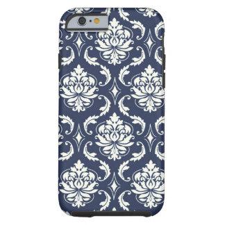 Het vintage Marineblauwe Witte Patroon van het Tough iPhone 6 Hoesje