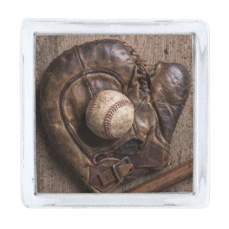 Het vintage Materiaal van het Honkbal Verzilverde Reverspeld