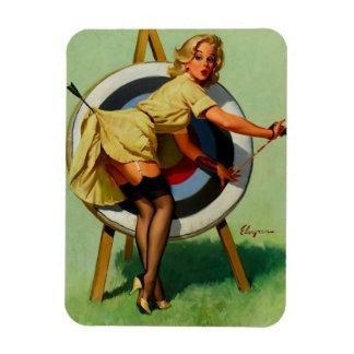 Het vintage Meisje van Pinup van het Boogschieten Magneet
