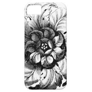 Het vintage Moderne Ontwerp van de Bloem in Barely There iPhone 5 Hoesje