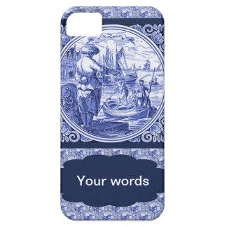Het vintage Nederlandse Blauwe afbeelding van Barely There iPhone 5 Hoesje