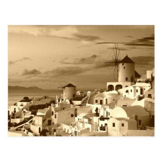 Het vintage Oia Santorini Griekenland Briefkaart