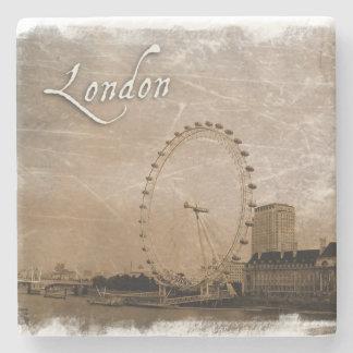 Het vintage onderzetter van Londen van de Stijl Stenen Onderzetter
