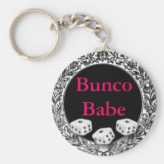 Het Vintage Ontwerp van Babe van Bunco Sleutelhanger