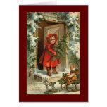 Het vintage Ontwerp van de Kerstkaart Wenskaart