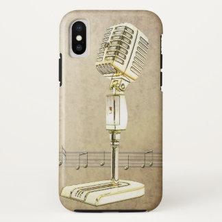 Het vintage Ontwerp van de Microfoon iPhone X Hoesje