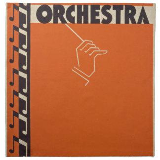Het vintage Orkest van de Symfonie Katoenen Servet