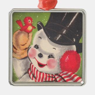 Het vintage Ornament van de Sneeuwman