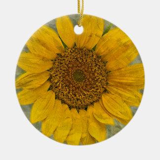 Het vintage Ornament van de Zonnebloem