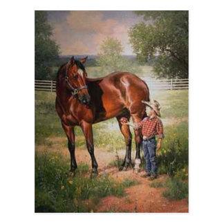 Het vintage Paard Briefkaart