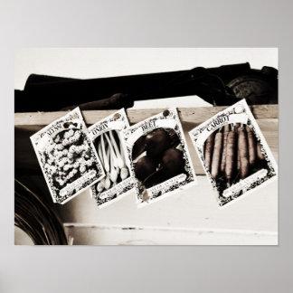 Het vintage pak-Ontwerp van het Zaad voor de Tuinm Poster