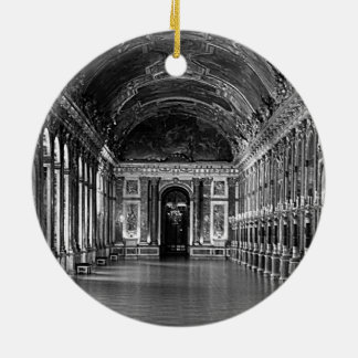 Het vintage paleis van Frankrijk Versailles Rond Keramisch Ornament