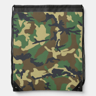 Het vintage Patroon van de Camouflage Trekkoord Rugzakje
