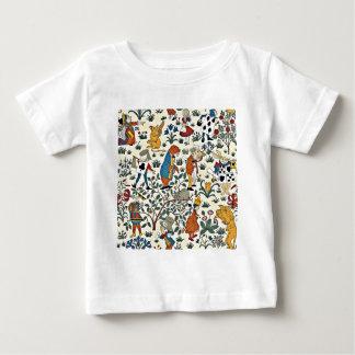 Het vintage Patroon van de Stof van Alice en van Baby T Shirts