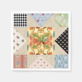 Het vintage Patroon van het Dekbed van de Ster van Papieren Servetten
