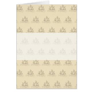 Het vintage Patroon van het Schip van de Stijl, Briefkaarten 0