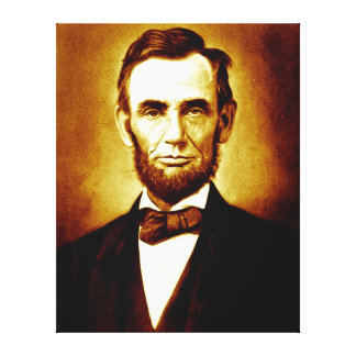 Het Vintage Portret van Abraham Lincoln van het Canvas Afdrukken