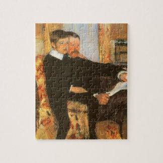 Het vintage Portret van de Vader en van de Zoon Puzzel