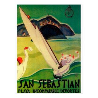 Het vintage Poster Donostia San Sebastian van de Briefkaart
