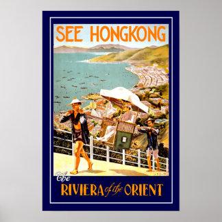 Het vintage Poster Hong Kong van de Reis