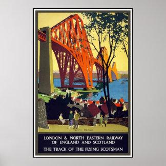 Het vintage Poster Londen Schotland van de Reis