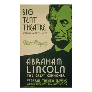 Het vintage Poster van Abraham Lincoln