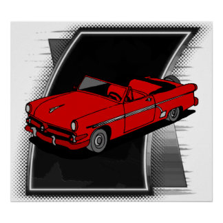 Het vintage Poster van de Auto van Jaren '50