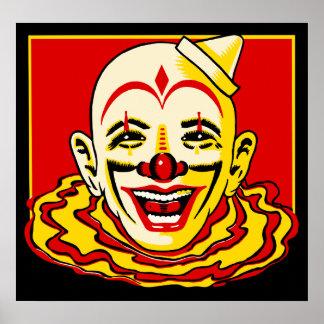 Het vintage Poster van de Clown van het Circus