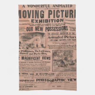 Het vintage Poster van de Film Theedoek