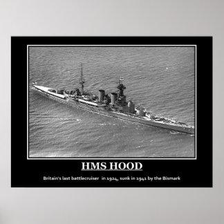 Het Vintage Poster van de HMS Hood 1924
