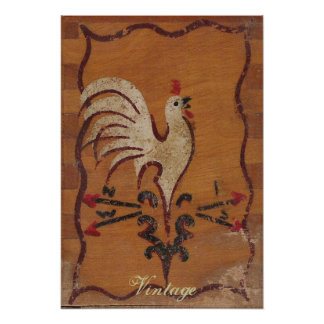 Het vintage Poster van de Kip